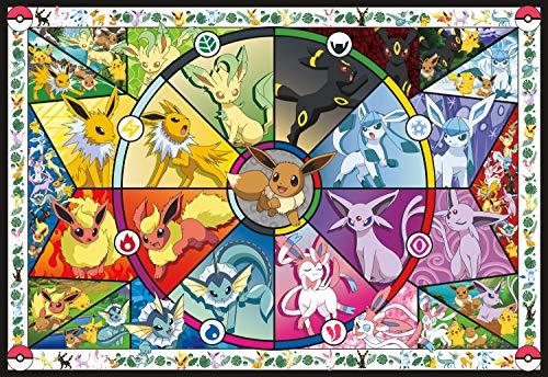 2000 Pokemon - Buffalo Games - Pokemon - Eevee's Stained Glass - 2000 Piece Jigsaw Puzzle