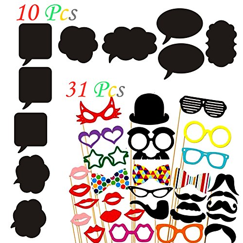 [41 Pcs Baby Shower Photo Booth Props Kit for Baby Shower Wedding Birthday Party Favors Dress-up] (Best Friend Costumes Ideas Diy)