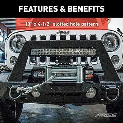 ARIES 2072101 TrailChaser Jeep Wrangler JK Bumper Winch Reinforcement Bracket: Automotive