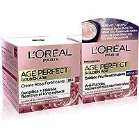L'Oréal Paris Age Perfect Golden Age Set de Crema de Día Fortificante de Rosas y Crema de Noche Fortificante…