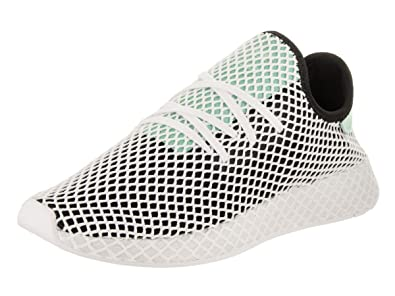 b4f95c00b15 adidas Mens Originals Deerupt Runner Core Black Easy Green White Mesh Size  7.5