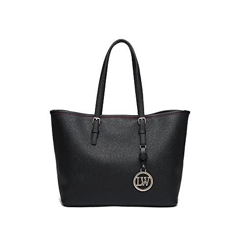 2e045f1037 LeahWard Women s Shopper Bags Great Shoulder Handbags For Ladies A4 Tote  297 (Black)