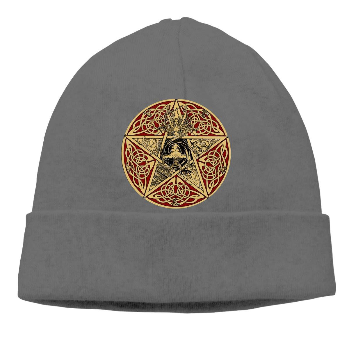 Pentacle of The Goddess Mens Beanie Cap Skull Cap Winter Warm Knitting Hats.