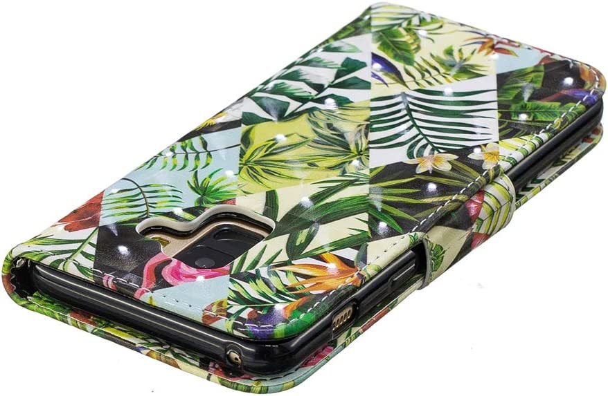 HMTECHUS Samsung A8 2018 case 3D Cartoon Animal Pattern PU Leather Wallet Folio Flip with Card Slots Shockproof Magnetic Clasp Protection Slim Cover for Samsung Galaxy A8 2018 Many Animals TX