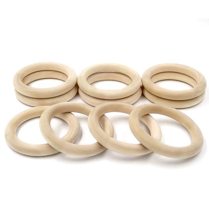 1 opinioni per Coskiss Bambino di dentizione 30Pcs di legno di legno anello 2,16 pollici