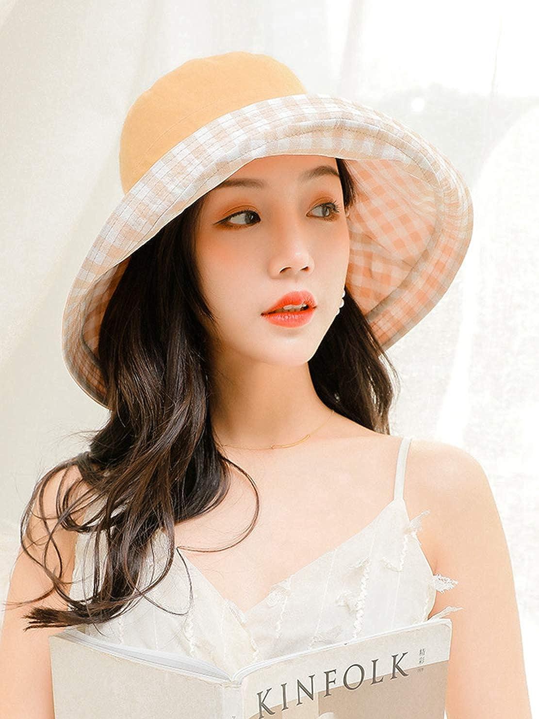Nat Terry Womens Summer Sunhats Ladies Elegant Big Wide Brim Travel Beach Anti-UV Protection Hats