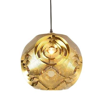 xiadsk Luz, lámpara, Linterna Lámpara Colgante electrochapada de ...