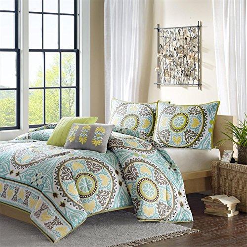 aqua turquoise blue and brown bedding. Black Bedroom Furniture Sets. Home Design Ideas