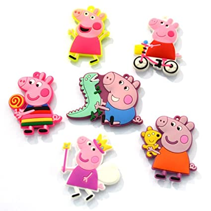 GRT Peppa Pig imán para nevera de animación para niños, imán de dibujos animados para