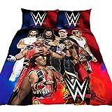 WWE Childrens/Kids Official Super 7 Duvet Cover Bedding Set (Full) (Multicolored)