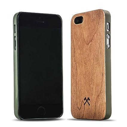 Woodcessories - EcoCase Classic - Premium Design Case, Cover, Hülle für das iPhone aus FSC zert. Holz (iPhone 5/ 5s/ SE, Kirs