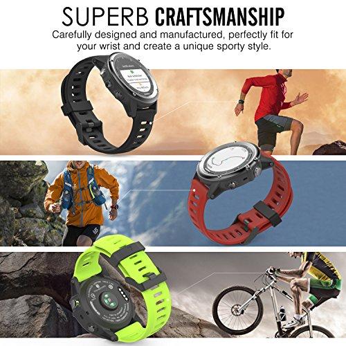 Garmin Fenix 3 Watch band, MoKo [6PCS] Soft Silicone Replacement Watch Band for Garmin Fenix 3 / Fenix 3 HR / Fenix 5X Smart Watch Multi Colors