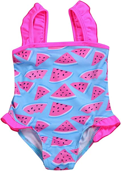 Kids Layered Bikini Swimsuit Girls Two Pieces Swimwear Watermelon Printed Beach Sport Set Bathing Suit
