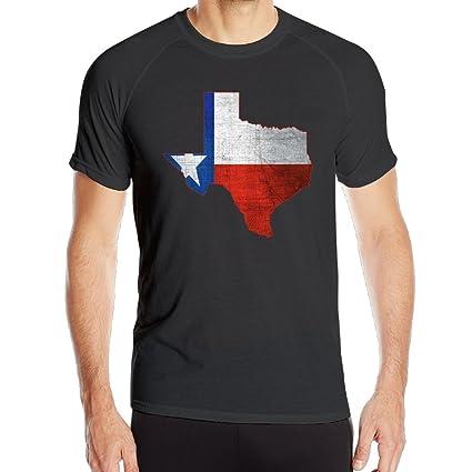 bd43525c0 Man Distressed Texas Map T-shirt Printing Sports Jogging Shirts Fast Drying