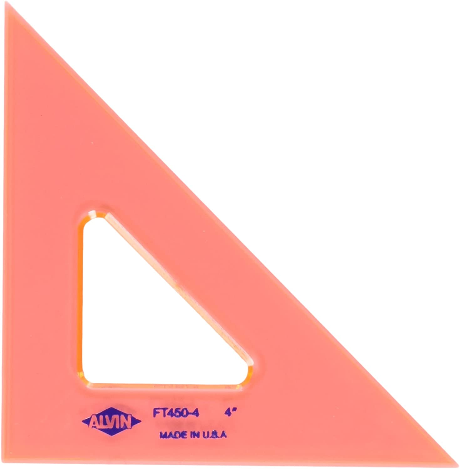Alvin, Triangle Ruler with Fluorescent Edges, Drafting Tool Kits - 4-inches, 45/90 Angle: Home & Kitchen