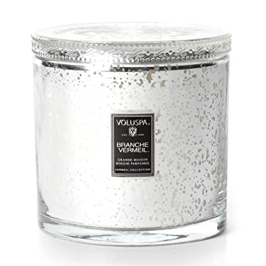 Voluspa Branche Vermeil Grand Maison Glass Candle With Lid 36 oz