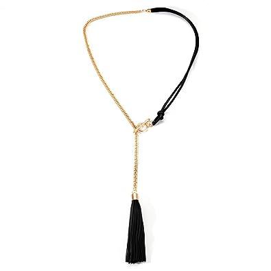 dd940e00096b ONNEA Collares Cadena Larga y Cuero Tassels para Mujer Joven  Amazon.es   Joyería