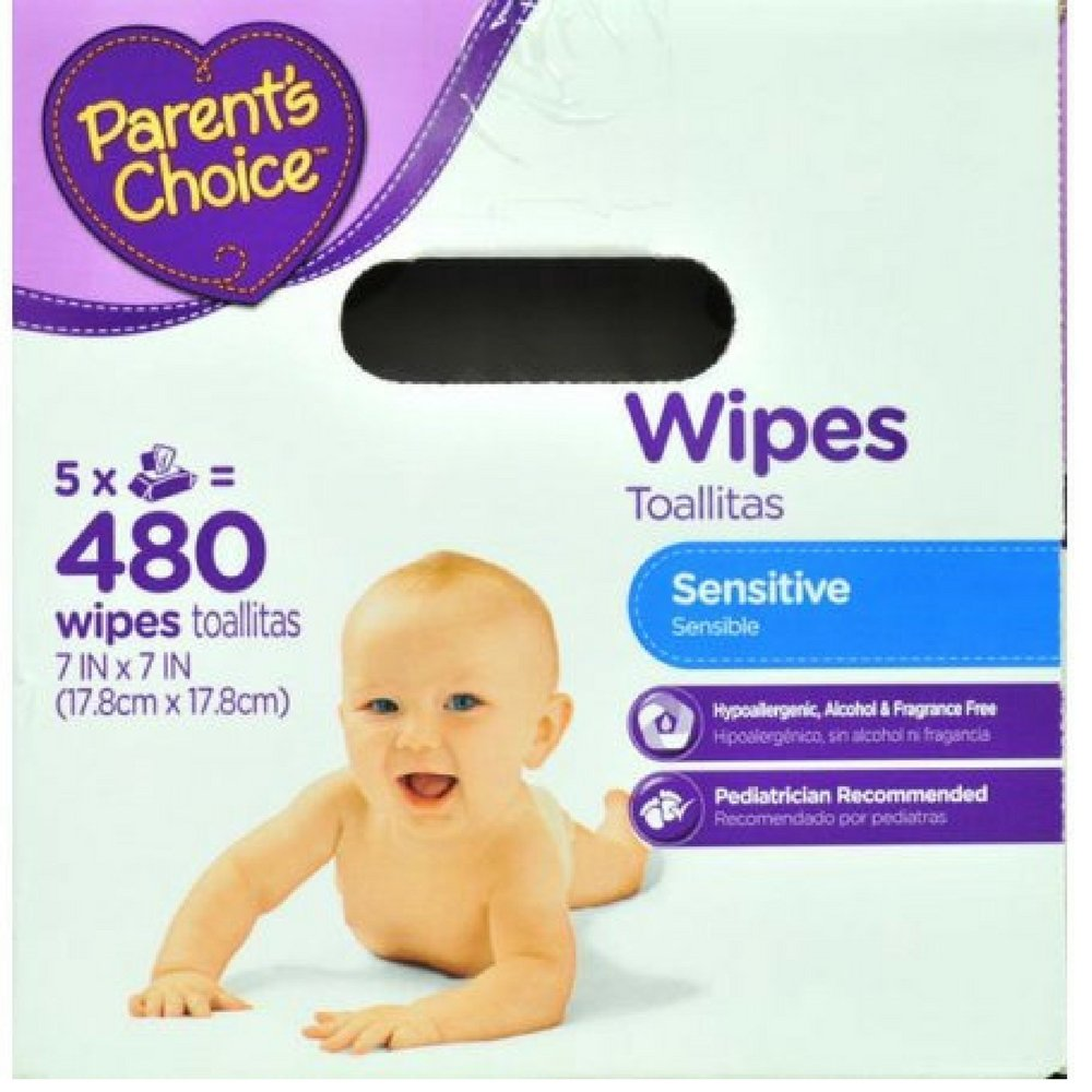 Amazon.com : Parents Choice Sensitive Wipes, 480 sheets (Pack of 4) : Baby