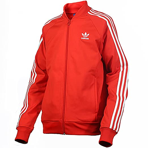 9015d919e7d3 Adidas Mens SuperStar Track Jacket Top Collegiate Red/White M30906 Size 2XL
