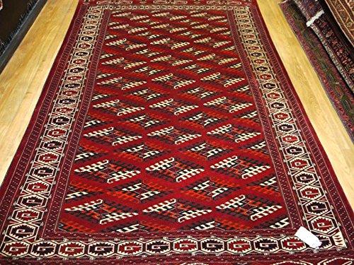 (Babak's Oriental Carpets Turkmen Tekke (Semi-Antique) Handmade Russian Rug 10'3