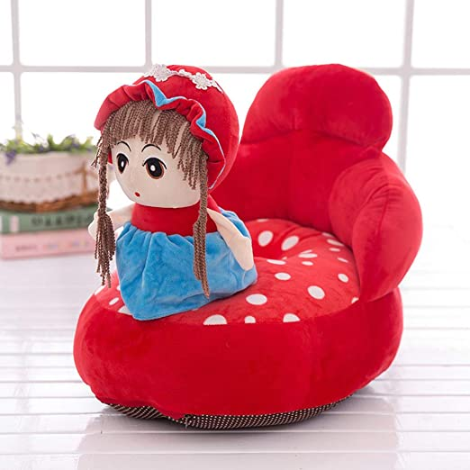 DW&HX Lindo Cartoon Sillon Infantil, Suave Felpa Mini sillón ...