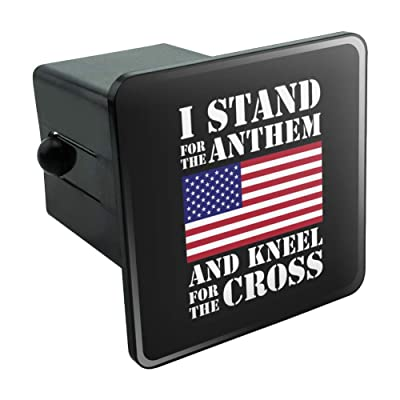 "Graphics and More I Stand for The Flag Kneel Cross USA American Flag Patriotic Tow Trailer Hitch Cover Plug Insert 2"": Automotive"