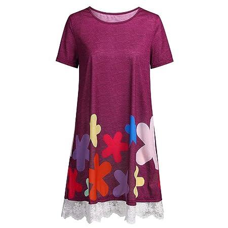 Mini Vestido de Verano para Mujer, Casual, Estampado Floral ...