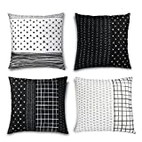 "Folkulture Decorative Throw Pillow Covers for Couch, Sofa, or Bed Set of 4 18x18 inch, Modern Quality Geometric Stripes Designer Cushion Case ""Tribal Set"" by"