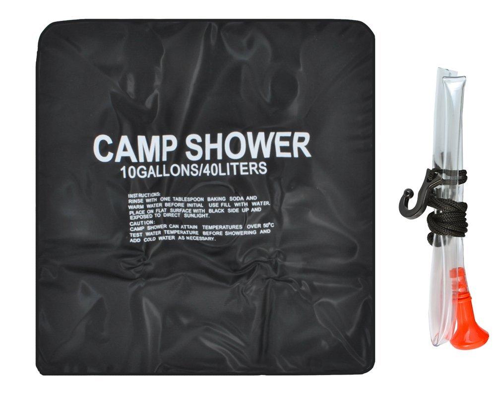 PoloMar 40L 40 Liter Portable Camping Dusche PVC Outdoor Camping Wandern Dusche Tasche Solarheizung Solarenergie Shower Bag Solardusche Wasser Beutel