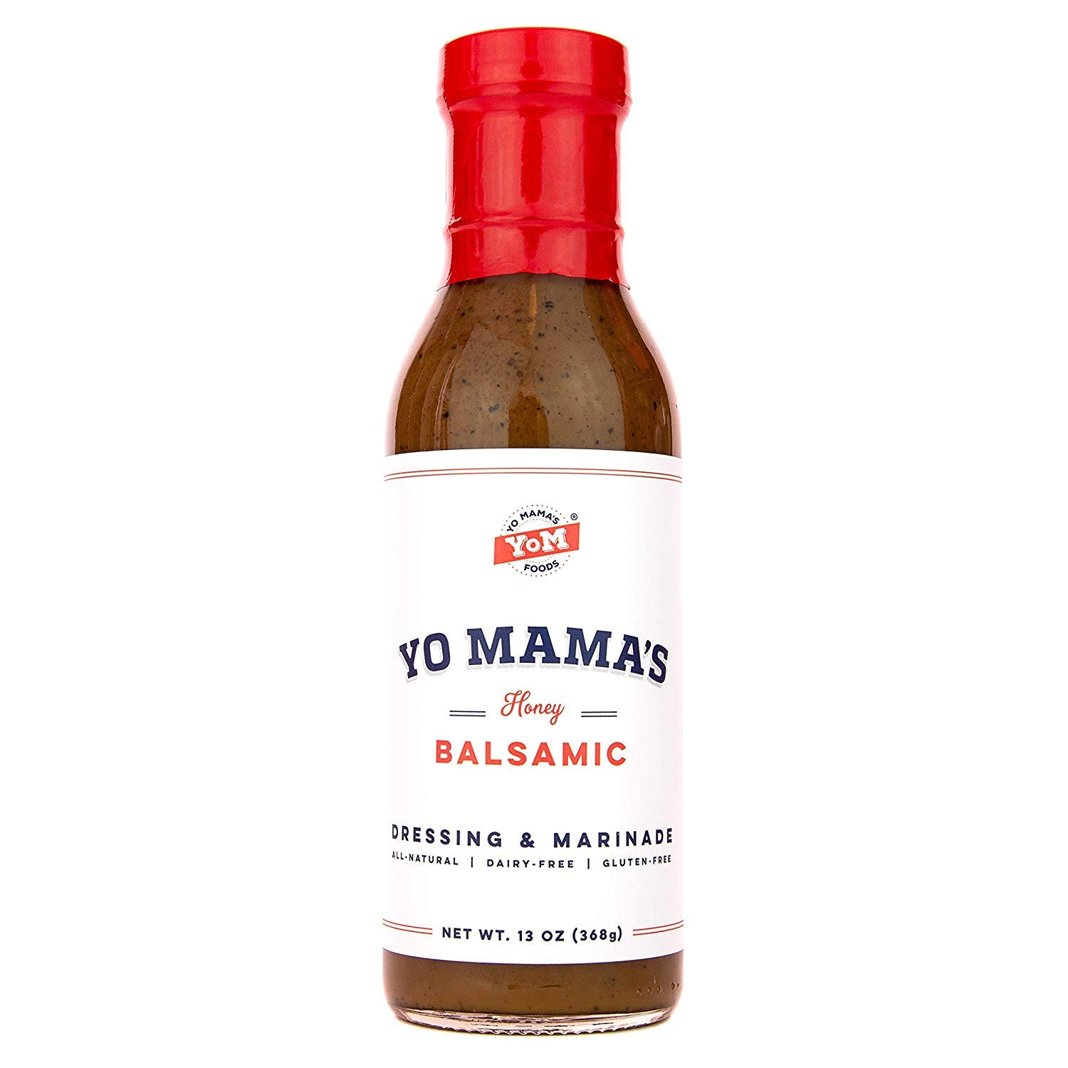 Gourmet Natural Balsamic Vinaigrette Dressing and Marinade by Yo Mama's Foods - Pack of (1) - Low Carb, Low Sodium, and Gluten-Free