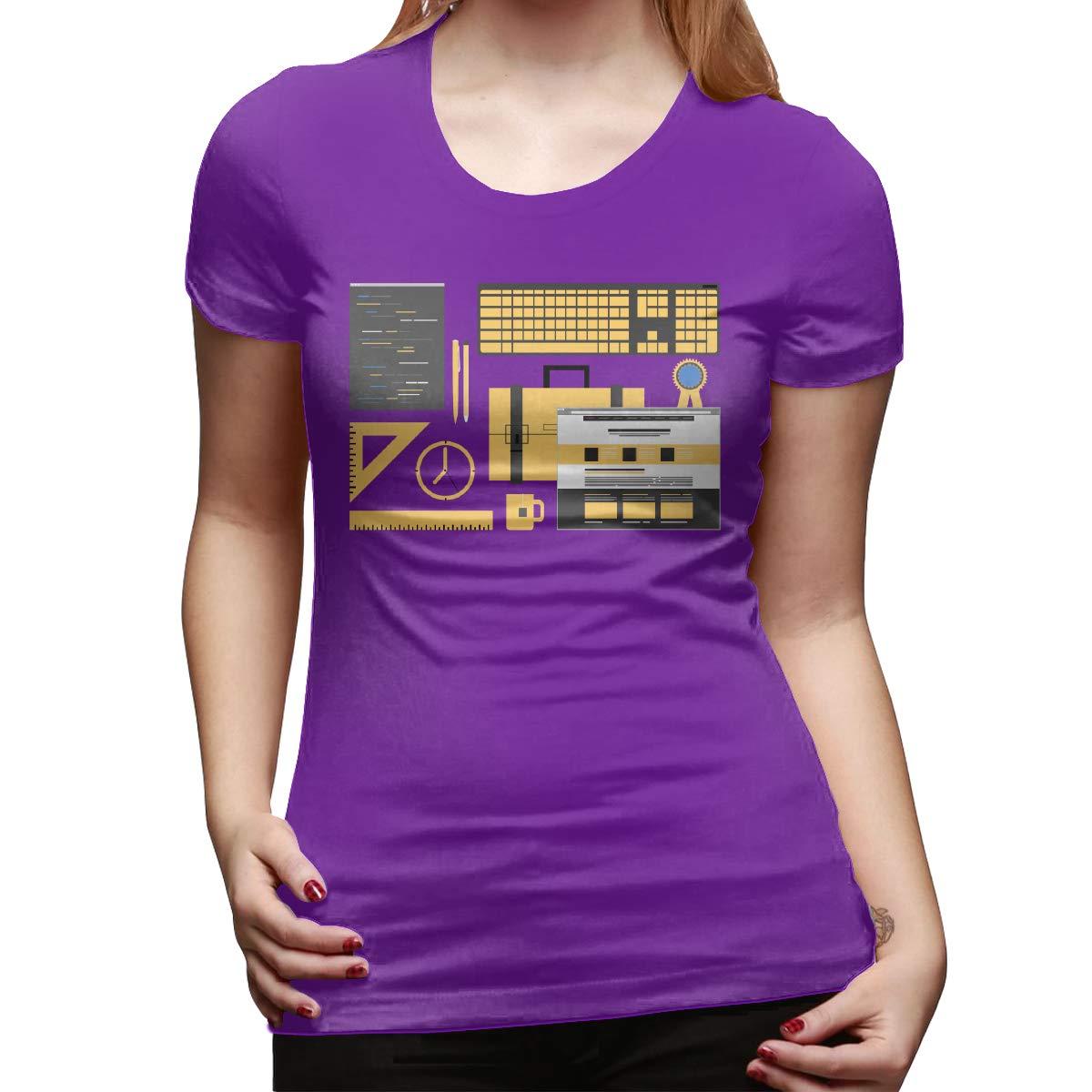Lisa Hansen Web Design Womens Short Sleeve T Shirt Color Purple Size 31