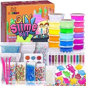 MOOHAM DIY Clear Crystal Slime Kit Supplies