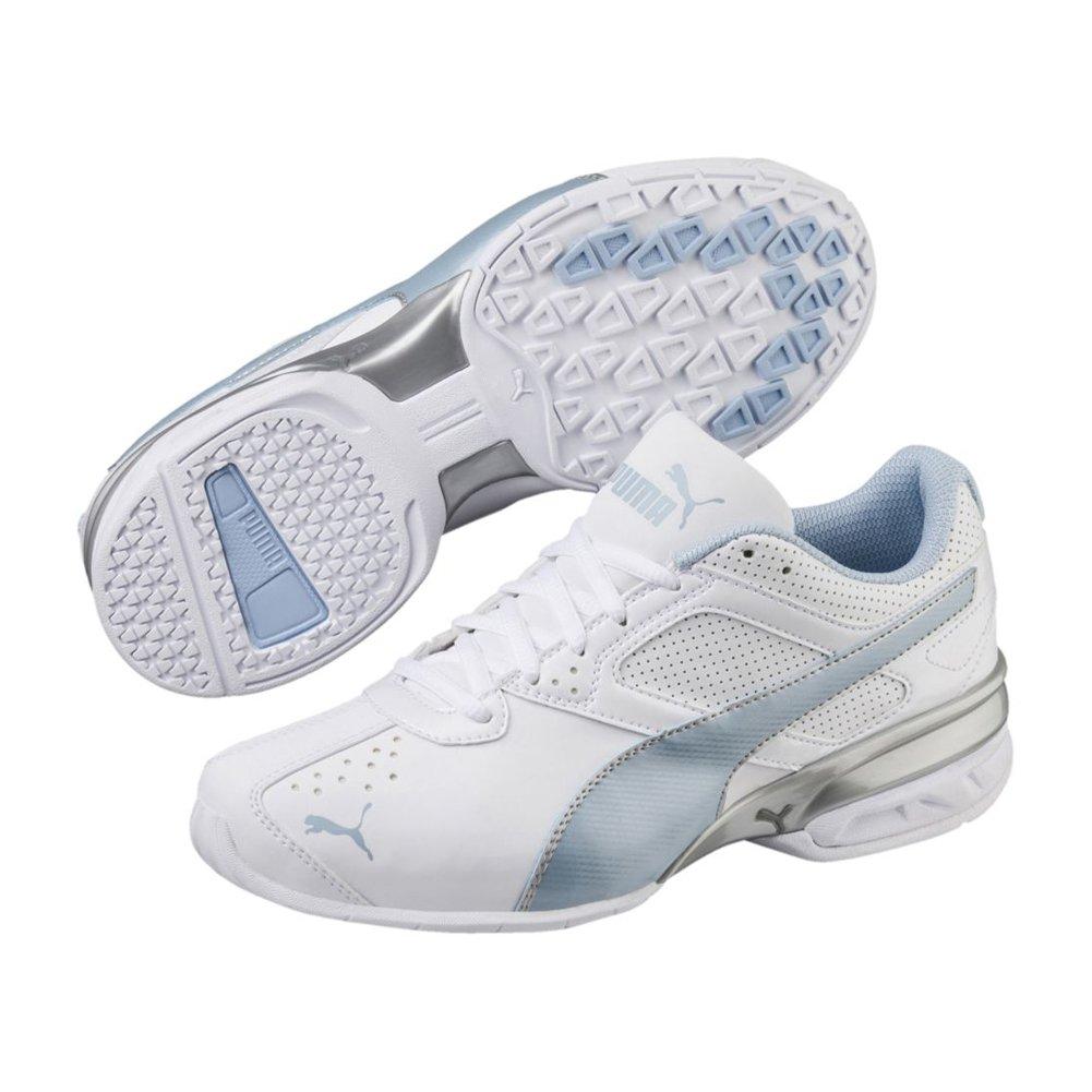 PUMA Women's Tazon 6 Fm Sneaker B078C71HFW 6.5 M US|Puma White-cerulean-puma Silver