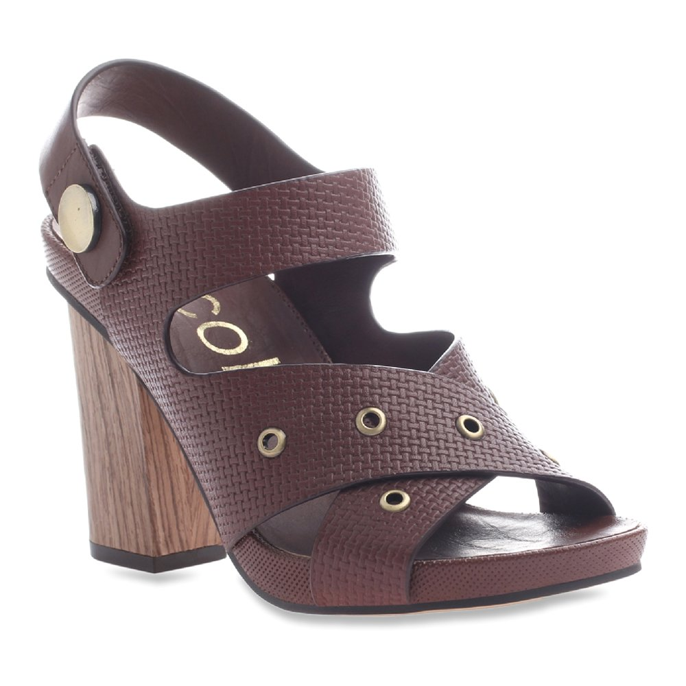 nicole Women's Noemi Wedge Sandal B018F1I4NA 6.5 B(M) US|New Chestnut