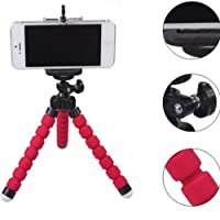 Mini Flexible Sponge Octopus Stand Tripod Mount for iPhone Samsung Camera Video Phone (Red)