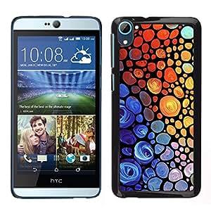 LECELL--Funda protectora / Cubierta / Piel For HTC Desire D826 -- Rainbow vibrantes colores rojo púrpura --