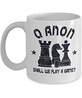 q anon chess 11oz white coffee mug shall we play a game qanon gift idea