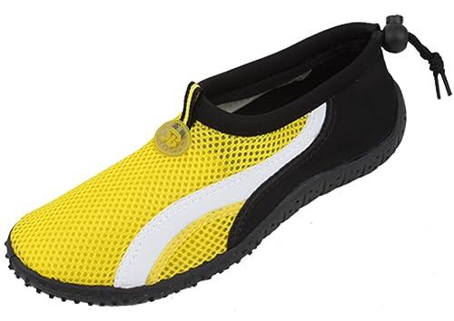 B2906A Women's Water Shoes Aqua Socks Slip on Sport Pool Yoga Dance Beach Surf 6 Colors