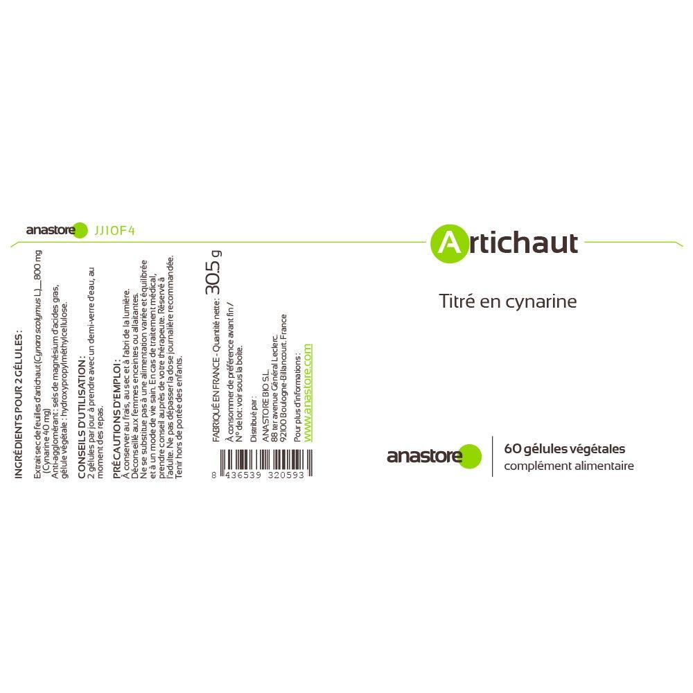 ALCACHOFA * 400 mg / 60 cápsulas * hígado, molestias hepáticas, molestias de la vesícula biliar, diabetes * Garantía de satisfacción o reembolso * Fabricado ...