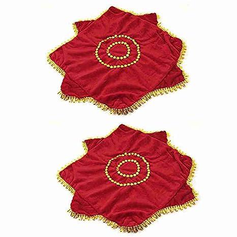 En forma de lágrima de Flor Roja Toalla Decoración Danza pañuelo Octogonal