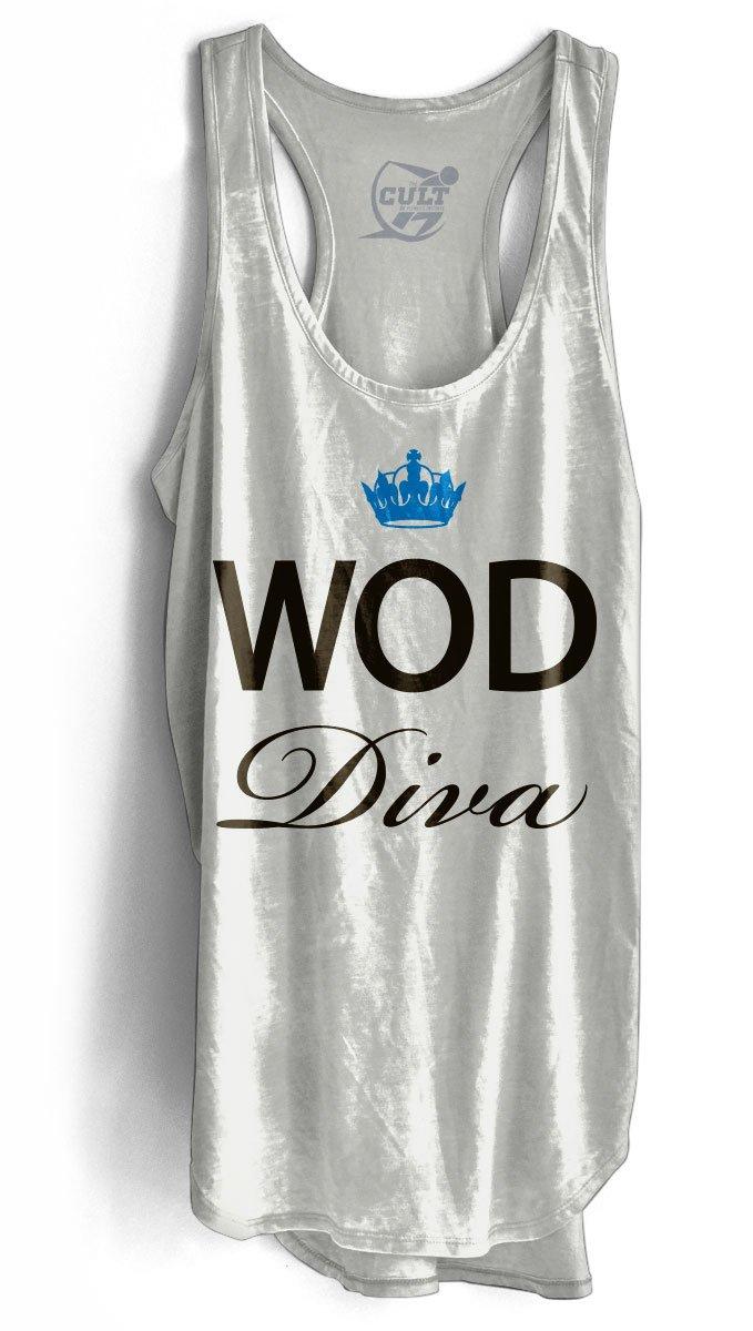 Cult of Fitness Women's WOD Diva Racer-Back Tank - White