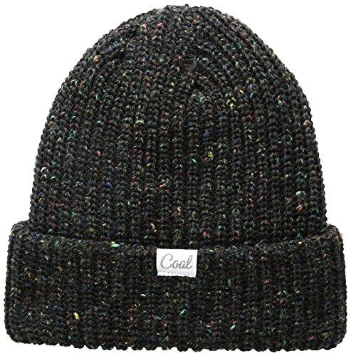 Coal Women's the Edith Rib Knit Cuffed Beanie Hat, Black, One Size