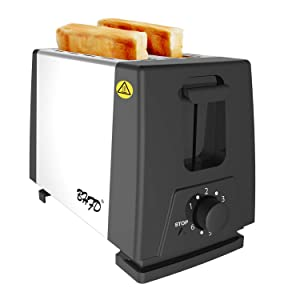 Toaster 2 Slice, Retro Small Toaster, Extra Wide Slot Compact Stainless Steel Toasters with 6 Shade Settings Removable Crumb Tray for Bread Waffles