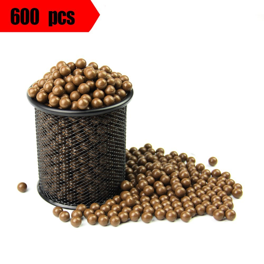 Slingshot Ammo Ball,Slingshot Ball 3/8'' Hard Clay Ball About 600 Pcs,More Quantity, More Professional, More Harder, More Environmentally Friendly. by COOY