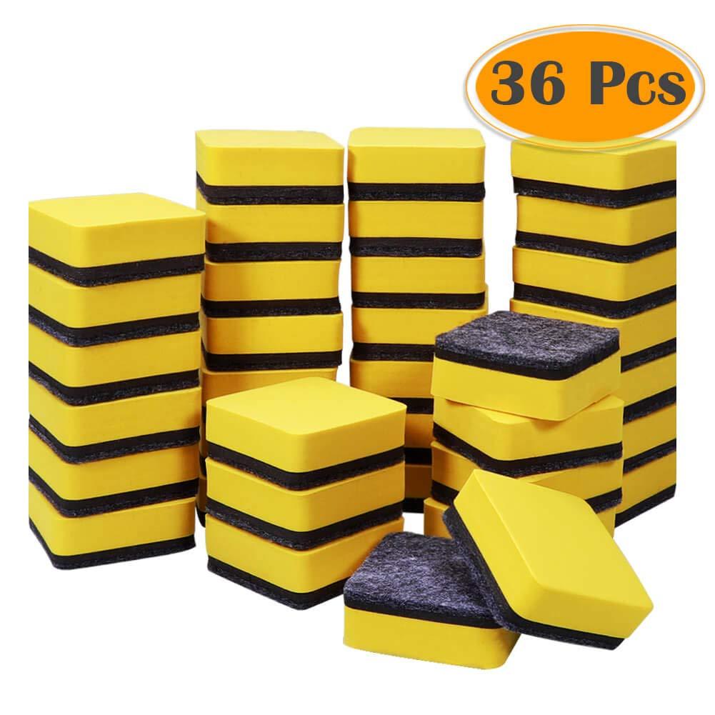 Selizo - Pack de 36 borradores magnéticos de borrado en seco ...