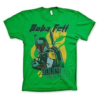 Offizielle Herren Star Wars Boba Fett Bounty Hunter Grünes T-Shirt (Small)