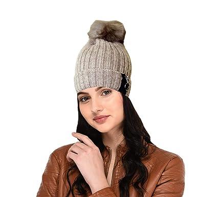 Malvina Fashion Winter Warm Beanie Cap Girl Women Snow Hat Skullies (zip)   Amazon.in  Clothing   Accessories 2655d767b6d