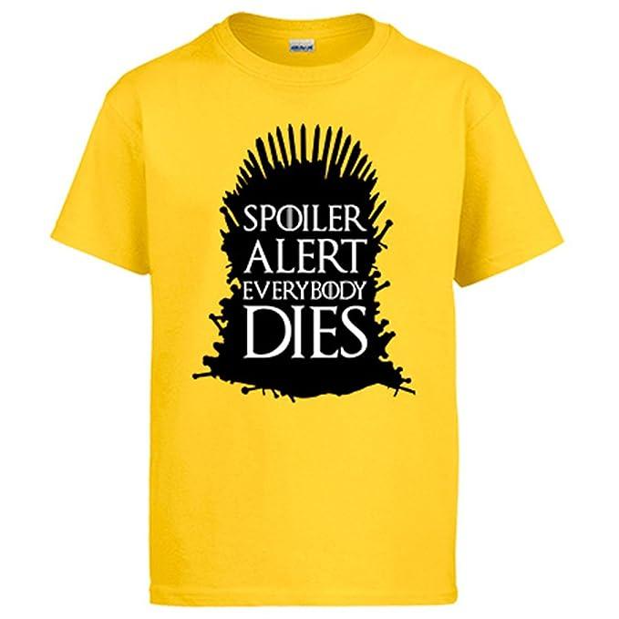 Camiseta Juego de Tronos Game Of Thrones Spoiler Alert Everybody Dies: Amazon.es: Ropa y accesorios