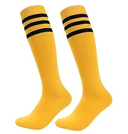 cosanter de calcetines Hombre Mujer Fútbol Béisbol Deportes Calcetines de compresión calcetín, Amarillo