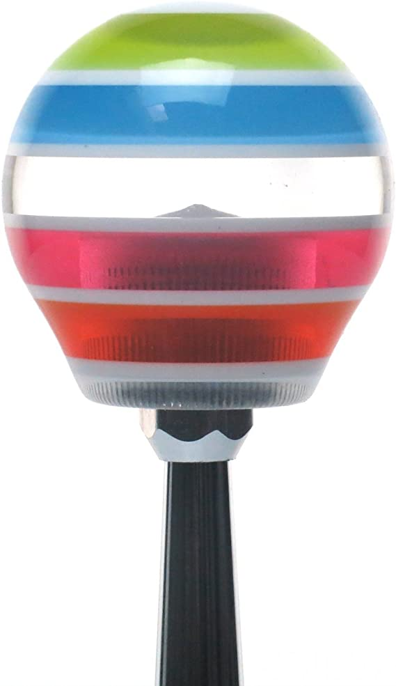 American Shifter 234368 Clear Flame Metal Flake Shift Knob with M16 x 1.5 Insert Blue Military EOD
